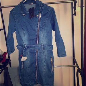 Denim Brat Mini Dress-XL